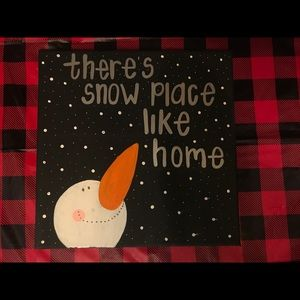 Snow place like home painting